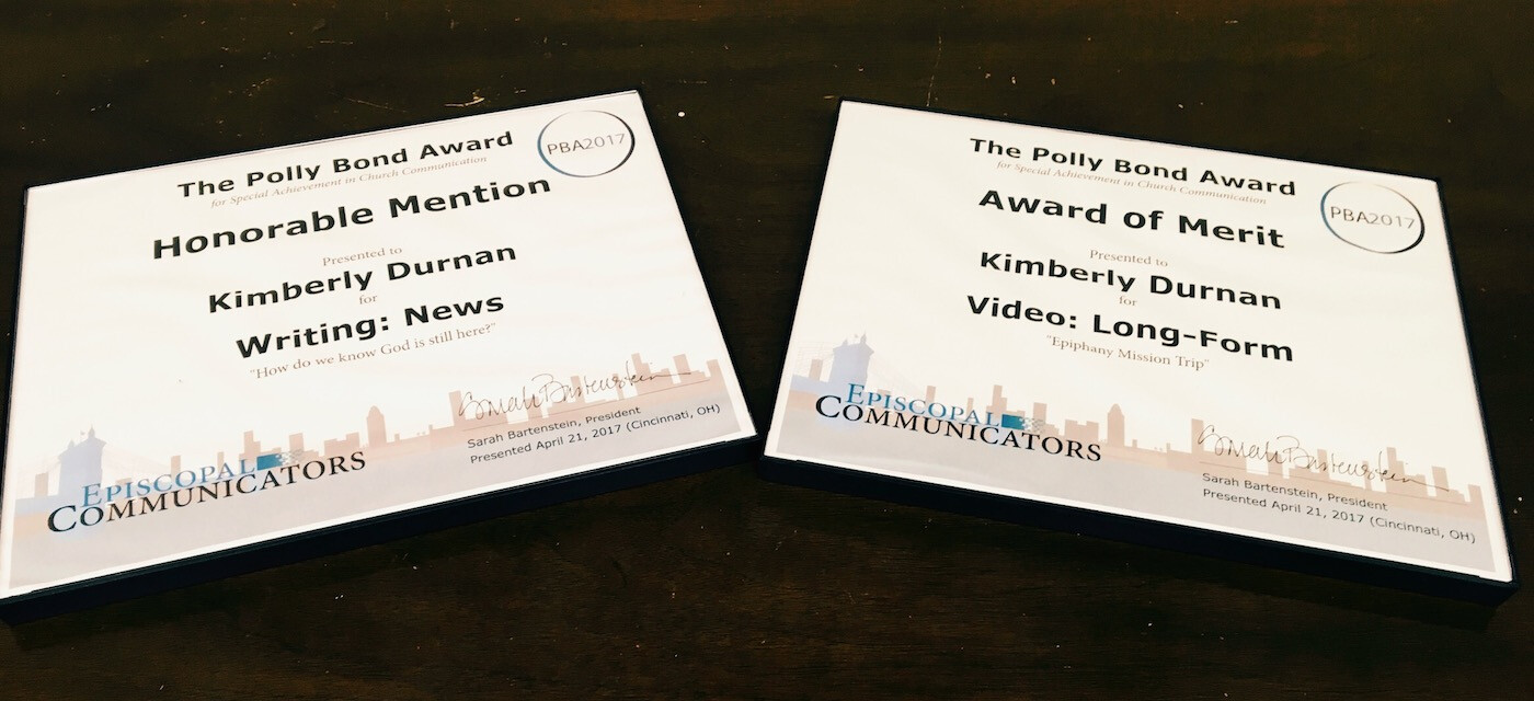 Episcopal Diocese Wins Two Communication Awards